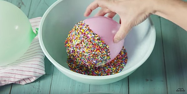 vanilla ice cream in a bowl with sprinkles