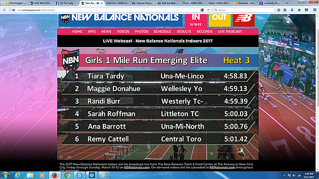 Final Results of Heat 3 via Webcast