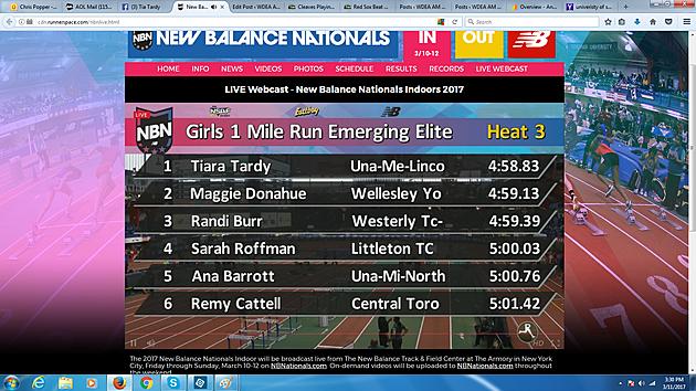 Final Results of Heat 3 via Webcast