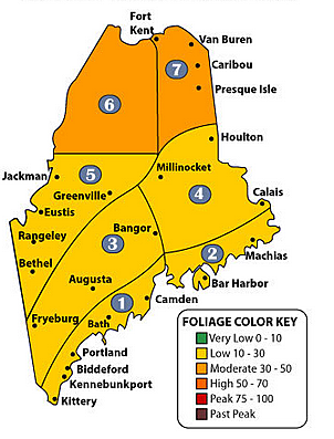 Foliage Report September 20, 2017 Photo Maine Department of Agriculture, Conservation and Forestry
